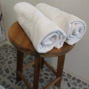 Vibes B&B, badeværelse, håndklæder