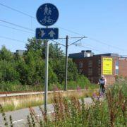 Zleep Hotel Skejby nåes sikkert og bekvemt på cykel.