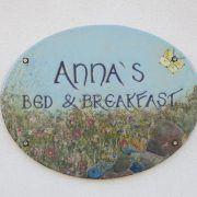 Annas B & B., Risskov, keramikskilt