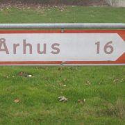 BB Hejren. 16 km til Århus